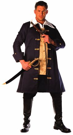 Underwraps Mens Pirate Captain Hook Costume ** Find out more about the great product at the image link-affiliate link Pirate Halloween Costumes, Cool Costumes, Adult Costumes, Aztec Sweater, Sweater Scarf, Captain Hook Costume, Vest Coat, Pirate Theme, Discount Clothing