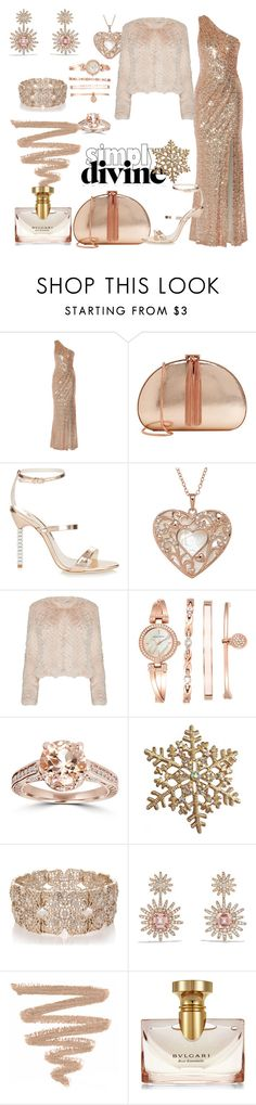 """Gold"" by ary-polyvore-outfits ❤ liked on Polyvore featuring Badgley Mischka, Ted Baker, Sophia Webster, Alice + Olivia, Anne Klein, Oasis, David Yurman and Bulgari"