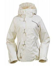 Burton Dream Snowboard Jacket Bright White Paper Print