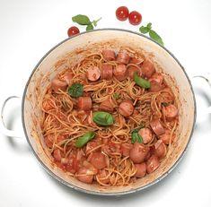 Alt-i-ett pølsegryte — Hege Hushovd Japchae, Food And Drink, Ethnic Recipes, Tips, Advice