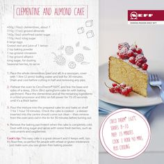 Treat yourself to our great NEFF Clementine and Almond Cake. Enjoy and share with your foodie friends. #recipe #cake