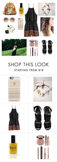 """""""Coachella with Jimin"""" by bts-outfit-imagines ❤ liked on Polyvore featuring Casetify, H&M, Lauren B. Beauty and Charlotte Tilbury"""