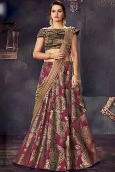 Party Wear Lehenga Choli Online for party occasions. Party Wear Lehenga Cholis and Party Special Lehengas Online, Partywear Lehengas . Lehenga Style Saree, Lehenga Gown, Party Wear Lehenga, Sari Dress, Lehenga Choli Online, Brocade Lehenga, Bridal Lehenga, Sarees, Dress Silhouette