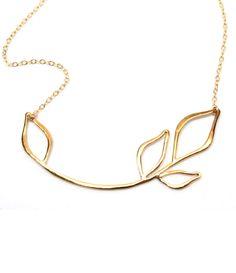 Leaf Necklace   http://uncovet.com/gold-floral-necklace?via=HardPin=type40
