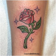 Shannon got a glittery stained glass rose to pair with Brittany's shell! Thanks for being so fun to work with!!! Glitter tattoos for everyone!  #meredithlittlesky #terrariumtattoo #colorado #coloradotattoo #tattoo #fortcollinstattoo #fortcollins #tattoofortcollins #customtattoo #customart #tattooart #magicktattoo #girlswhotattoo #femaletattooartist #kawaii #kawaiitattoo #cutetattoo #LadyTattooers #rosetattoo #disneytattoo #beautyandthebeast #beautyandthebeasttattoo #glittertattoo #disney…