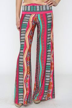 Ethnic palazzo yoga pants . flattering.... small by Foreverpeace, $32.99