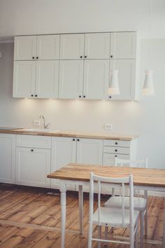 Our IKEA kitchen with hardwood ash tree counter-top