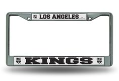Los Angeles Kings Chrome License Plate Frame