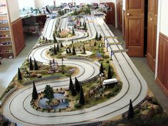 slot car tracks with landscaping - Google Search
