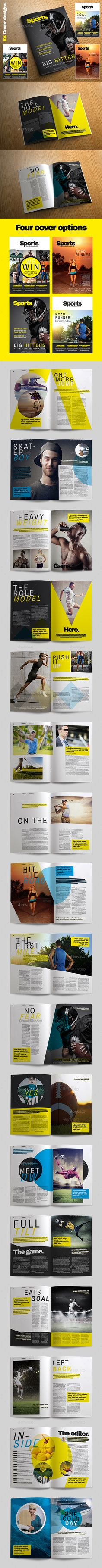 Sports Magazine is a professional quality and easy to use magazine template. Packed full or great original page designs. Sports magazine is ideal for any sporting genre, use the wide variety of unique page layouts to create your own high quality sporting magazine.
