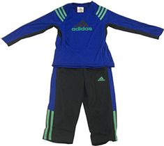 Adidas Little Boys Long Sleeve Shirt Pants Set Bright Blue 7 ** Check out the image by visiting the link.