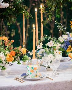 Vibiana- Featured in Strictly Weddings Photography: Brian Leahy Photo Wedding Table Decorations, Wedding Table Settings, Strictly Weddings, Event Lighting, Color Blending, Couture Bridal, Bridal Gown, Event Design, Garden Wedding