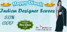 Welcome to Sai Fashion! Bollywood Designer Sarees, Indian Designer Sarees, Indian Silk Sarees, Bridal Sari, Saree Wedding, Womens Clothing Stores, Clothes For Women, Religious Symbols, Saree Shopping