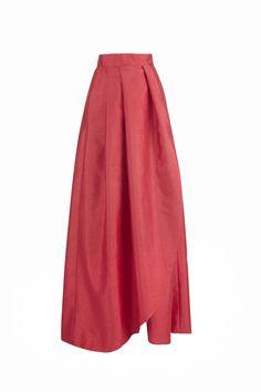 Falda larga Victoria roja Miticca by Isabella Gobarodi
