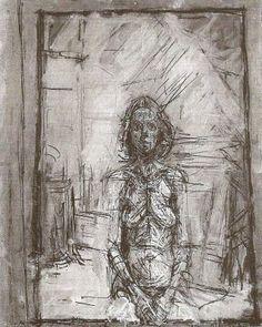 Alberto Giacometti 'Portrait of Annette' 1954 Alberto Giacometti, Giovanni Giacometti, Figure Painting, Figure Drawing, Painting & Drawing, Giacometti Paintings, Figurative Kunst, Portraits, Art Graphique