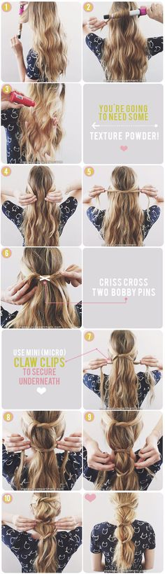 messy knotted ponytail tutorial
