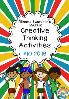 This pack is designed for Years 3 - 6 to use as individual lessons, literacy rotation tasks or fast finishing activities. The Blooms/Gardners grid has been created to encourage creative and critical thinking about the world event of the Olympic Games. ~ Rainbow Sky Creations ~