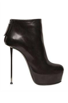 Stiletto Booties Boots - Spike-Heeled Booties - ELLE
