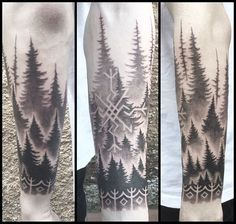 Another view of the nordic forest. #nordictattoo #nordic #nordicink #tattoo #bindrune #viking #vikingtattoo #blackwork #barcelona #barcelonatattoo #blackworkerssubmission #btattooing @norse_celtic_tattoos @yazicheskie_tattoo