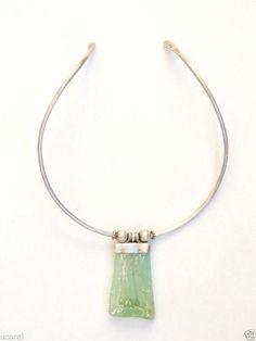 Vintage Art Deco Antique Sterling silver 925 Necklace Pendants With Quartz Stone #Pendant