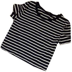 Weixinbuy Womens Sexy Striped T-shirt Casual Midriff Short Striped... ($3.89) ❤ liked on Polyvore featuring tops, t-shirts, sexy short tops, blue top, stripe top, blue striped top and sexy tops