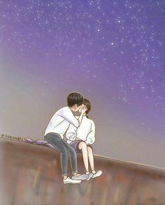 I hope this guy kiss me Love Cartoon Couple, Cute Love Cartoons, Anime Love Couple, Songsong Couple, Cute Couple Art, Romantic Anime Couples, Cute Anime Couples, Cute Love Pictures, Love Images