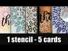Glass Bead Glitter Gel and Stenciling on Hand Made Cards - YouTube