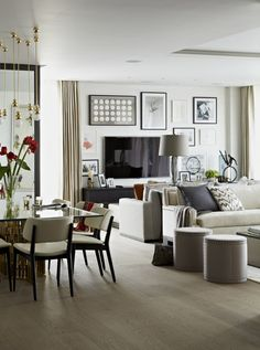 Trevor Square, Knightsbridge, London  Living Room & Dining Room  Dining  Family Room  Living  Contemporary  Eclectic by Taylor Howes
