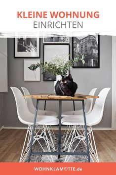 Die richtige Wandfarbe und die passende Beleuchtung – mit einfachen Tricks wirken Deine Räume größer. Mit der richtigen Einrichtung nutzt Du Deine kleine Wohnung optimal. Butterfly Chair, Bay Window, Eames, Diy Home Decor, Tricks, Windows, Kitchen, Furniture, Banquettes