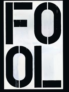 "Christopher Wool. ""Untitled"" de 1990"