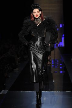 Jean Paul Gaultier Fall-winter 2014-2015 - Couture...Wow love these details on leather. Imagine in a bridal color & fabric.
