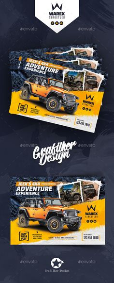 OffRoad Adventure Flyer Templates — Photoshop PSD #bike #off road • Download ➝ https://graphicriver.net/item/offroad-adventure-flyer-templates/21160054?ref=pxcr