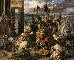 The Entry of the Crusaders into Constantinople, by Eugène Delacroix (1840). n 1198, Pope Innocent III broached the subject of a new crusade through legates and encyclical letters. The stated intent of the crusade was to conquer Egypt, now the center of Muslim power in the Levant.