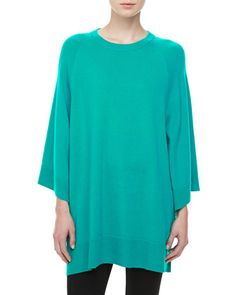 Cashmere Scoop-Neck Poncho, Sky by Michael Kors at Neiman Marcus.