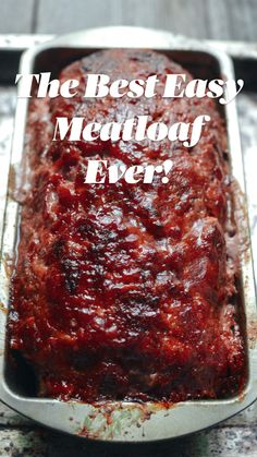 Classic Meatloaf Recipe, Good Meatloaf Recipe, Best Meatloaf, Recipes For Meatloaf, Beef Recipes For Dinner, Pork Recipes, Chicken Recipes, Cooking Recipes, Homemade Meatloaf