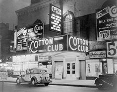 The Cotton Club was a famous jazz music night club located in the Harlem neighborhood of New York City which operated from 1923 to The club was a white-only establishment even though it featured. Décoration New York, Harlem New York, New York City, Harlem Nyc, The Cotton Club, Billie Holiday, Harlem Renaissance, Renaissance Literature, Renaissance Wedding