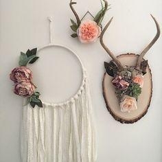 Floral antlers. Shab...