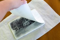 Many methods exist for transferring photos onto ceramic tiles—including photographic silk-screen, Polaroid transfers, laser print, and photocopy transfers. One of the easiest ways to make photo transfers is to print your photos on T-shirt transfer paper a Ceramic Tile Crafts, Clay Tiles, Ceramic Clay, Photo Tiles, Picture Tiles, Foto Transfer, Transfer Paper, Heat Transfer, Transfer Printing