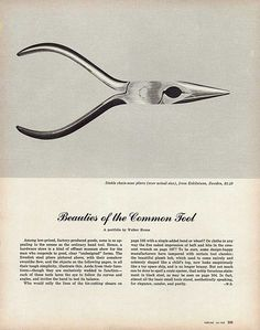 Beauties of the Common Tool. Photo by Walker Evans