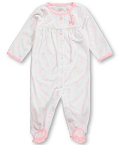 "Carter's Baby Girls' ""Ballet Slippers"" Footed Coverall - CookiesKids.com"