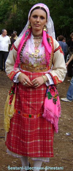 Albanian folk costumes from Sheshtan