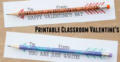 Looking for a cute and easy classroom valentines printable? Look no further! Just print, add a pencil, and you have an inexpensive, adorable valentine card!