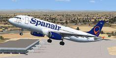 A320 de Spanair dejando Sevilla