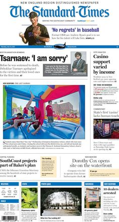 """The Standard-Times. June 25, 2015  Closer look at how income may have affected the casino vote; Steve Urbon's not-so-great first impression at the state's first """"casino""""; New Bedford police arrest 10 drug dealers and more."""