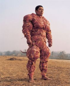 "Meat Man- Special abilities: emits ""Scent Of Cooking Meat"" that hypnotises prey / Touch of Salmonella / Inflicts victims with instant heart failure    Weaknesses: requently attacked by woodland creatures"