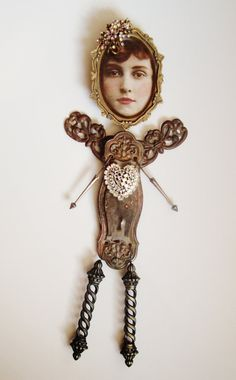 Mixed Media Assemblage  Henrietta Was ALL Heart   by Creative Revival