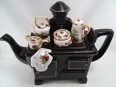 Royal Albert Old Country Roses Teapot Cardew Design Kitchen Stove Tea Pot | eBay