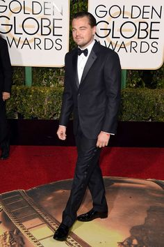 Golden Globes 2016. Leonardo DiCaprio in Giorgio Armani