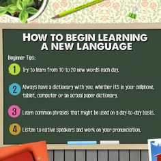 Whether its French, Portuguese or Mandarin, learning a new language is always a challenge. These beginner tips will help you get started. What languages do you want to learn? #Education #Learning #Languages