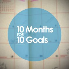 Our team is getting in on the goal setting with #10for10!